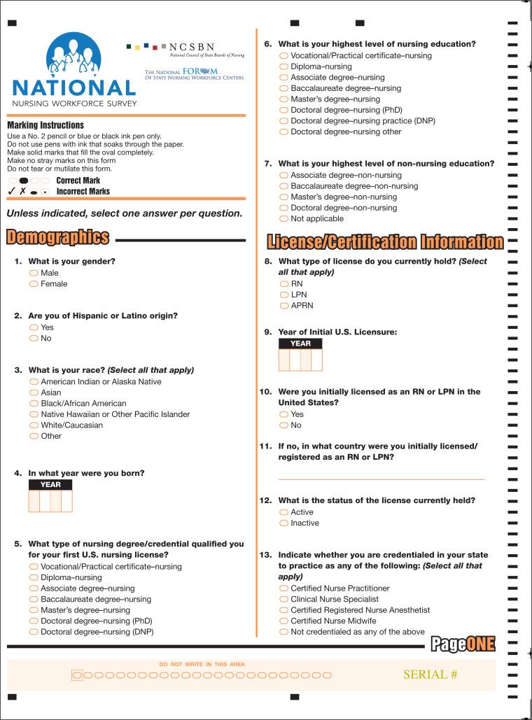 The 2017 National Nursing Workforce Survey Journal Of Nursing